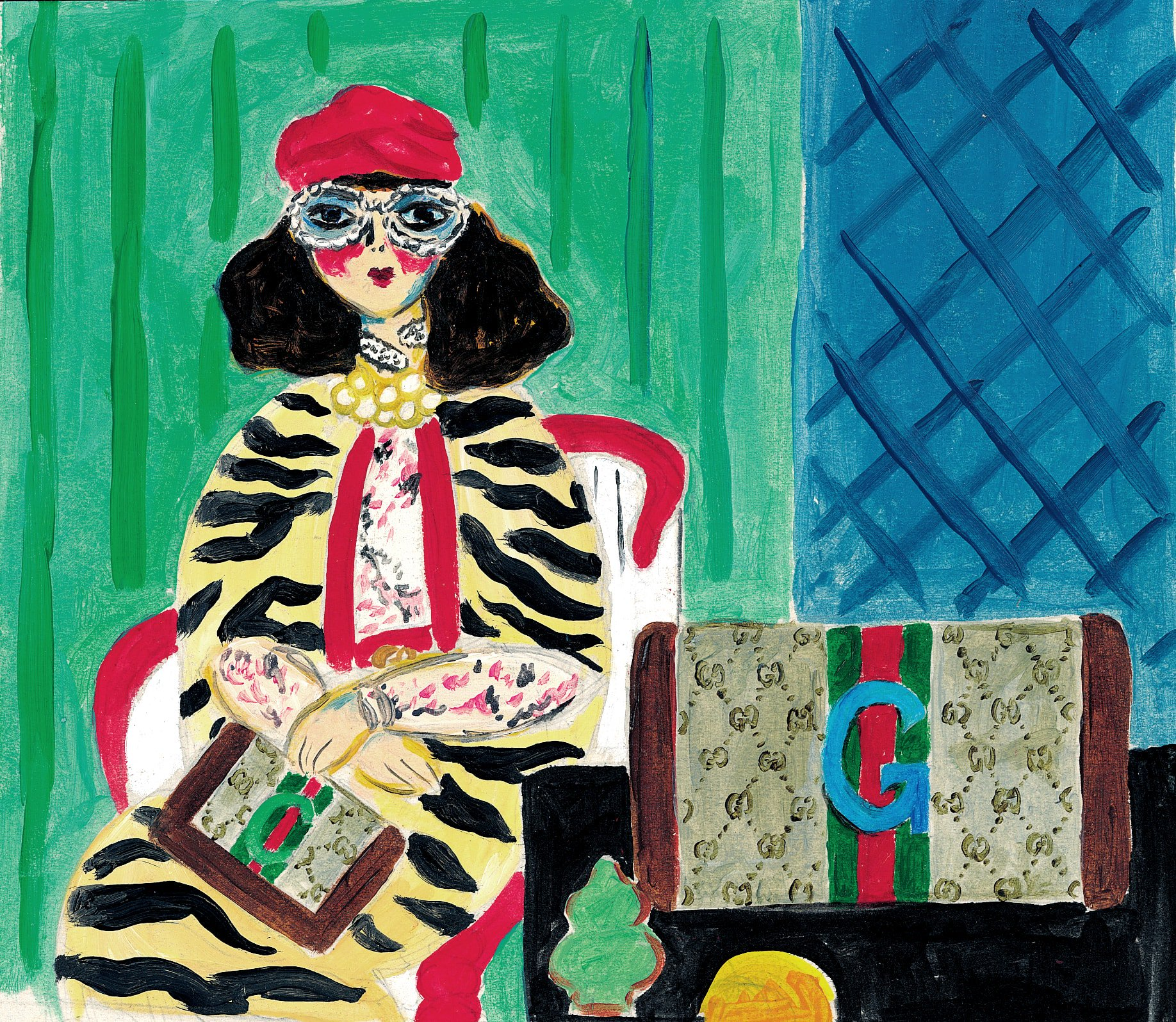 From hand-drawn doodles to color-drenched acrylics on paper and digital drawn scenes, six artists captured the new customizable pieces from #GucciDIY. Inspired by fauvism art, #GwangRyeolChoi 's artworks feature the #GucciOphidia wallets. #AlessandroMichele https://t.co/HokqhDVcQk