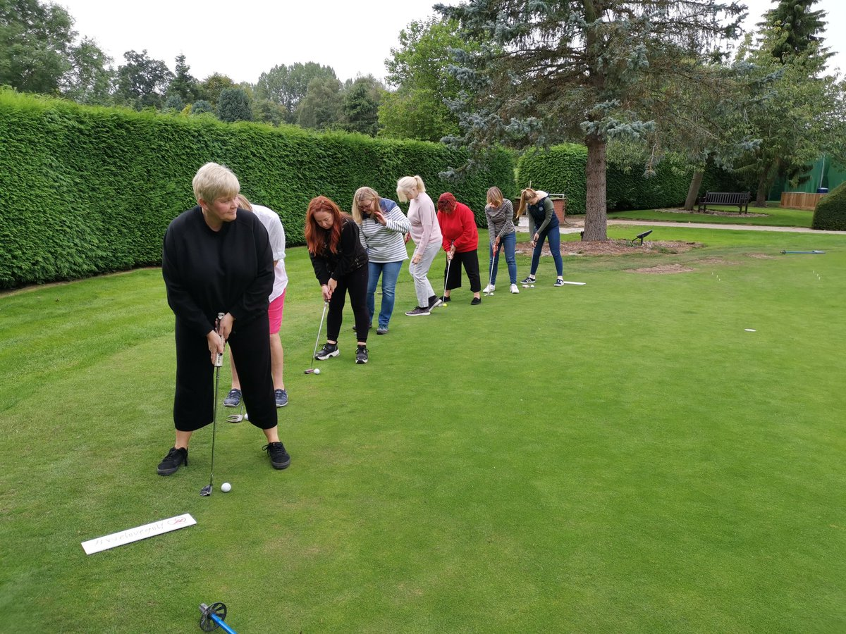 test Twitter Media - On the eve of @SolheimCupEuro win the @2019solheimcup our #WeLoveGolf ladies were enjoying their 1st #weLoveGolf lesson. Looking forward to introducing them to chipping next week. Ladies, if you would like to try golf and join in, just drop us a message 👍 @WeLoveGolfPGA @ThePGA https://t.co/dxNLZfwGzu