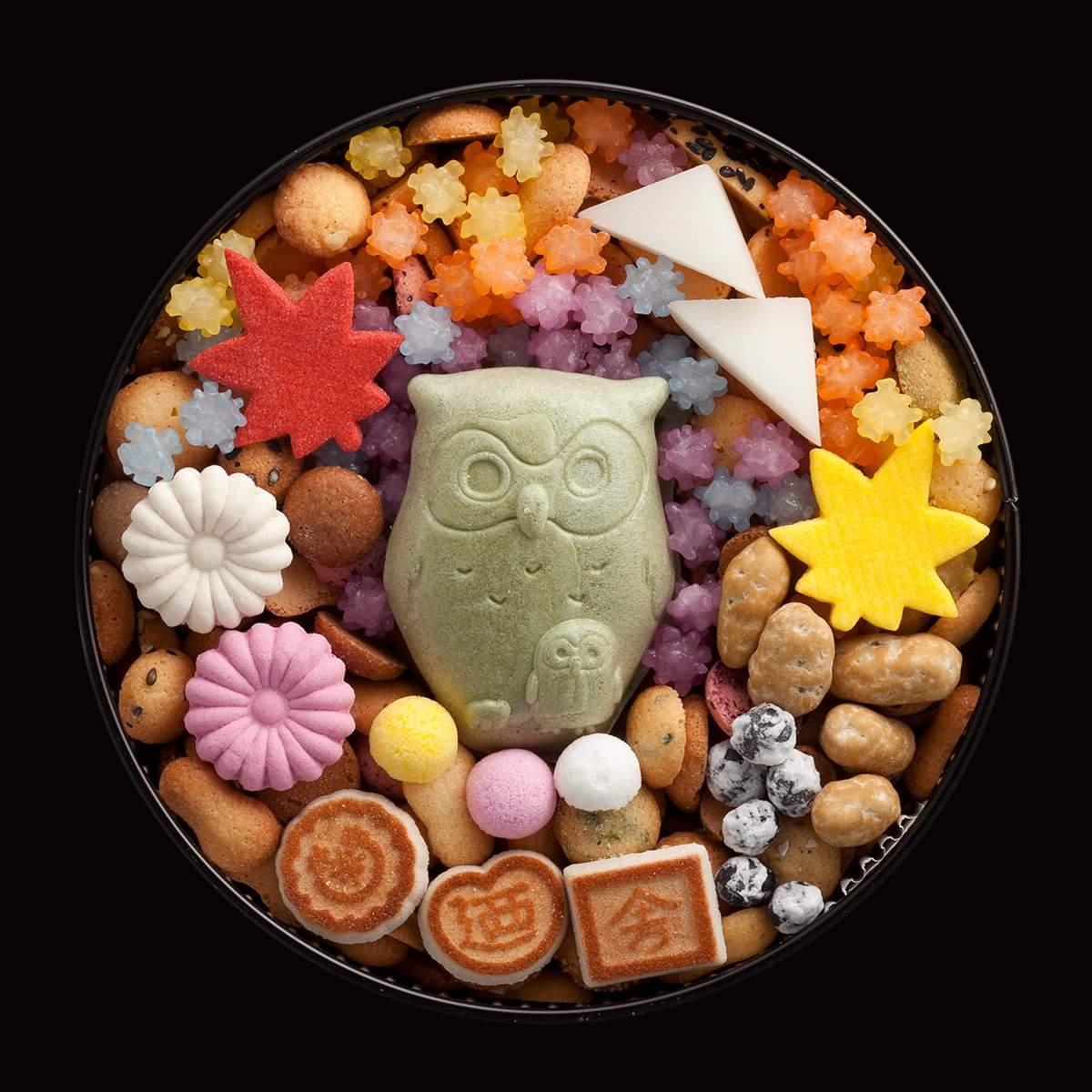"test ツイッターメディア - #敬老の日 には冨貴寄を🎁🦉 銀座 菊廼舎本店 登録商標 冨貴寄 ふくろう 明治23年創業。茶事には欠かせないお菓子、冨貴寄。職人が丁寧に作った小さくてかわいらしい江戸和菓子が缶にぎっしり!ふくろうは""福老""とも書く縁起のいい生き物。 福寿を願い、ふくろうの中に8つの幸せを入り https://t.co/715dFKXefn"