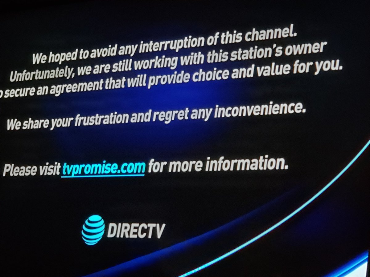 test Twitter Media - Screw DirectTV. 6 plus months of no Fox and and now no NBC.  ALL of the NFC channels.  ESPN is a joke and CBS is like watching paint dry. DTV could give a crap. Please hit them where it hurts and leave.They aren't frustrated, they're GREEDY. #ScrewDirectTV #DirectTVSucks https://t.co/lI5gYc2EoJ