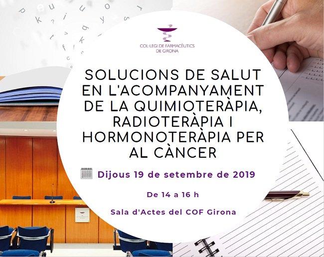 """test Twitter Media - 📌 Proper curs en període d'inscripció al COF Girona: """"Solucions de salut en l'acompanyament de la quimioteràpia, radioteràpia i hormonoteràpia per al càncer"""" 📅 Dijous 19/9/2019 Inscriu-te! 👇 https://t.co/ufs80LZK49 #FormacionsCOFGi #COFGirona #Farmacèutics https://t.co/XzPBBLAcIF"""