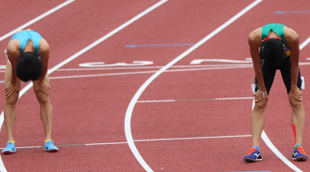 test ツイッターメディア - 2019.9.14 日本インカレ 男子800m 予選4組 鹿居 二郎 選手(亜細亜大学)  三津家貴也 選手(筑波大学)  #日本インカレ https://t.co/wwAIb32Slv