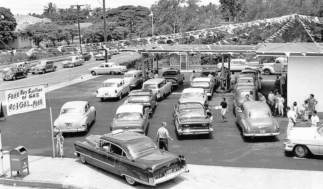 Old School Service Station / Honolulu 1958 https://t.co/nFfUTVSB3M
