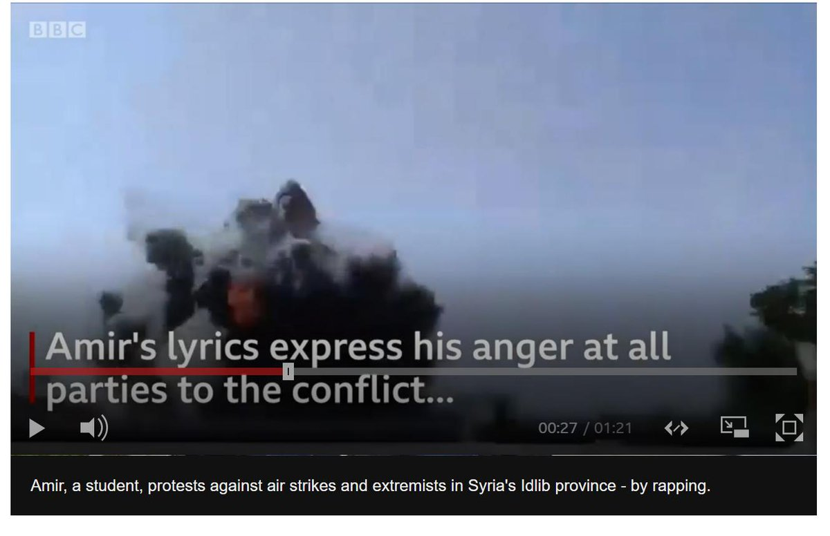 """test Twitter Media - Syrian rapper battles on all fronts in war-torn #Idlib   """"This is the playground of the Russian leader Where you have to choose between the regime+ al-Qaeda Pick their side +you'll be safe from their rockets Now see if all that talk at Sochi could stop it"""" https://t.co/rNAGzYB4fl https://t.co/ORt9CdH5NO"""