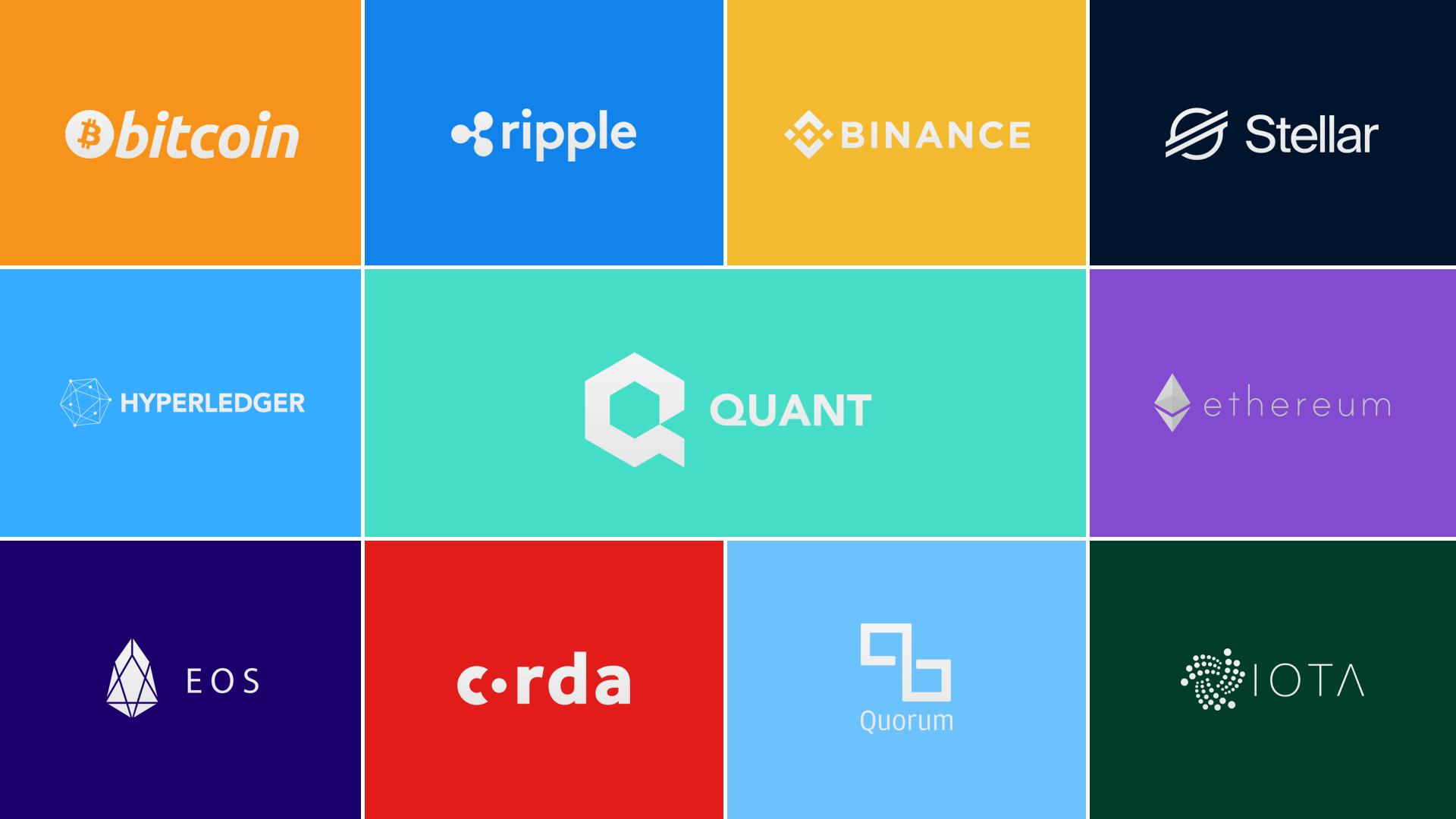 So far #Overledger has connected..  #Bitcoin #Ethereum #Ripple #Hyperledger #Corda #Quorum #Binance #Stellar #IOTA #EOS   These #blockchains can now interoperate..  90% of #Enterprise based blockchains covered..  The largest #crypto chains connected..  $QNT #DLT $BTC $ETH $XRP https://t.co/CnvMGSRHqk