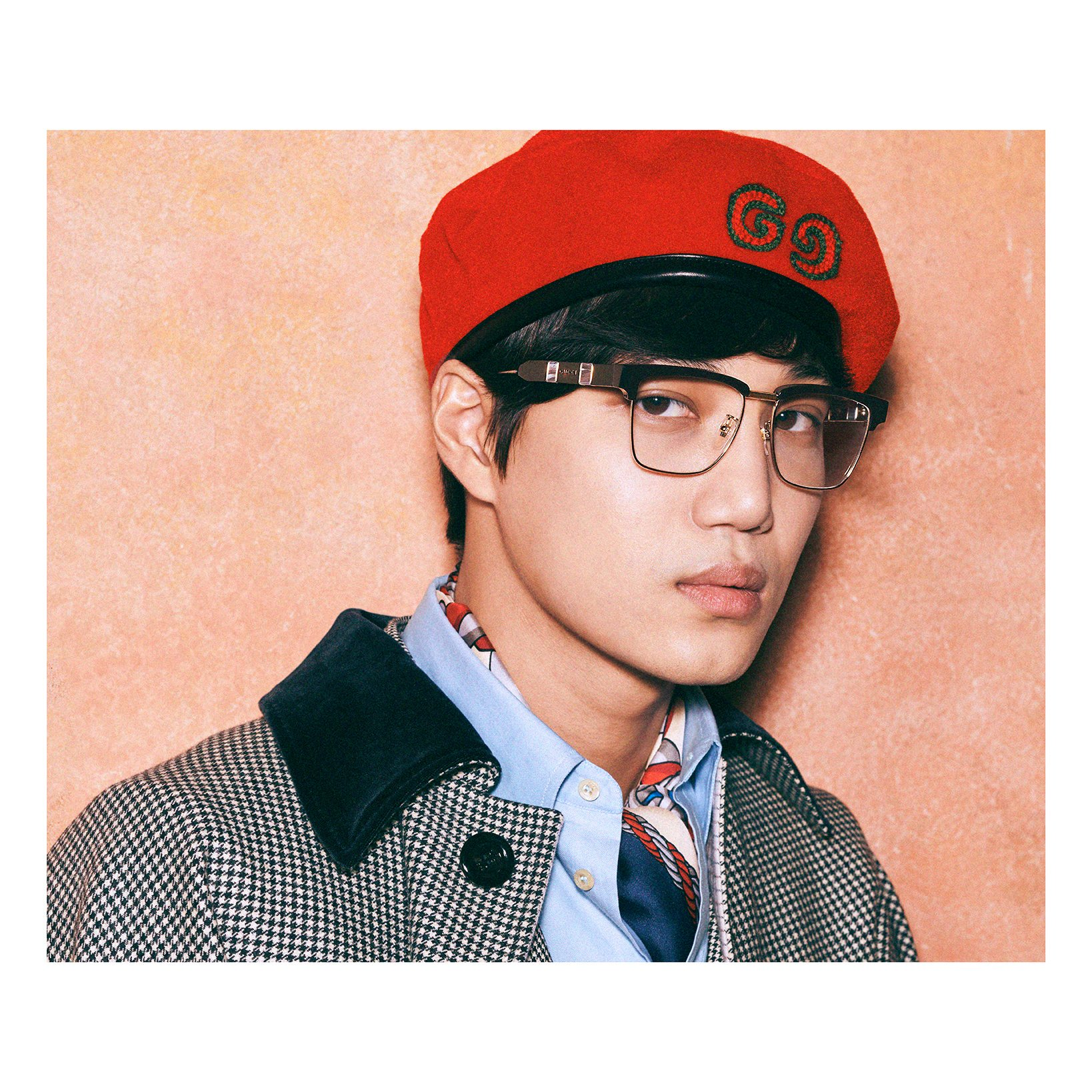 #Kai from @weareoneEXO stars in the new #GucciEyewar campaign for Fall Winter 2019. Wearing key shades designed by #AlessandroMichele, #Kai is captured by cult filmmaker and photographer #HarmonyKorine. #GucciFW19 https://t.co/1k7BPuAjXy