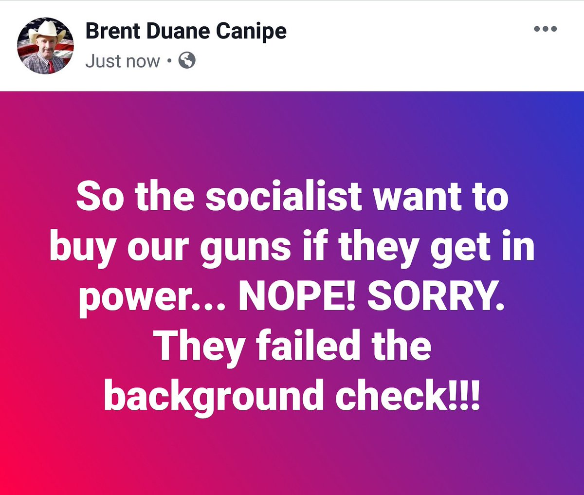 test Twitter Media - So the socialist want to buy our guns if they get in power... NOPE! SORRY. They failed the background check!!! #Trump #trumpmemes #trump2020 #trumpsupporters #MAGA #2A #KAG #KAG2020 #KeepAmericaGreat https://t.co/z675plmr4U