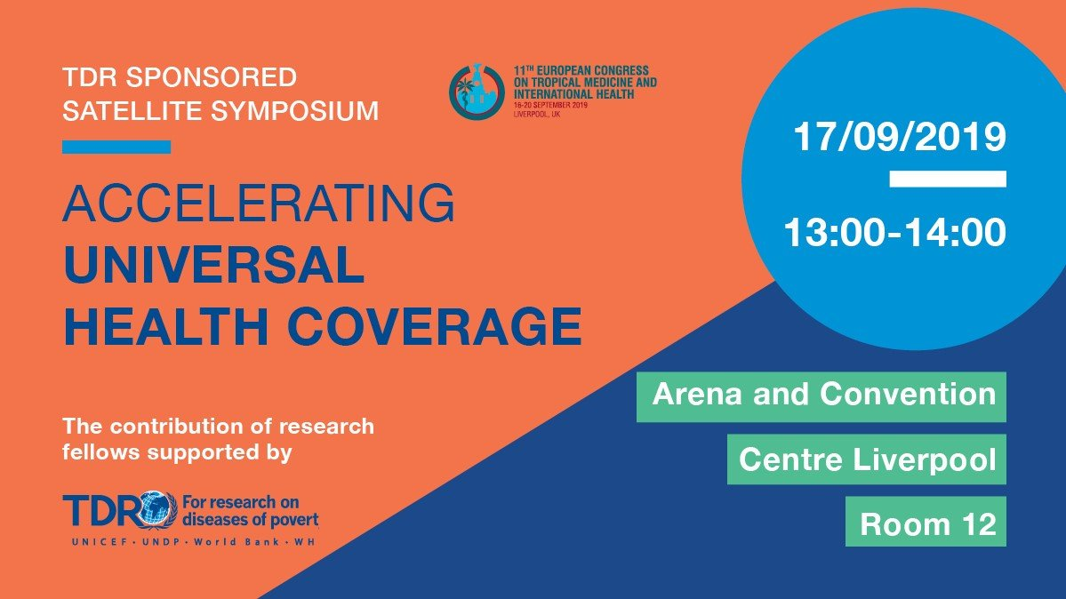 test Twitter Media - Later today at #ECTMIH2019 in #Liverpool, satellite symposium explores the contribution of research to accelerating #UHC. Agenda includes presentations by @TDRnews research fellows from across the globe: Tuesday 17th September | 13:00pm | Room 12. https://t.co/cAMbFZ0vfR https://t.co/VLqachnMr4