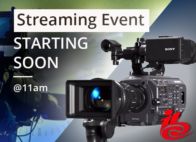 Streaming event '#Sony #IBC Review including the new #FX9 with #AlisterChapman' is starting soon!