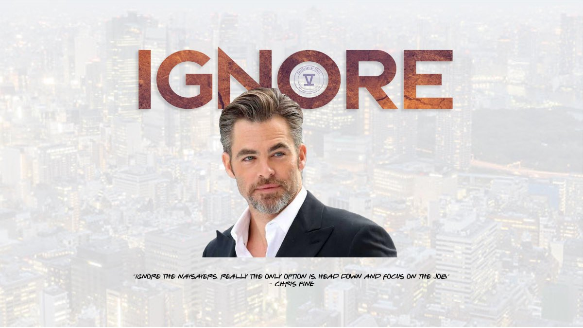 """test Twitter Media - """"Ignore the naysayers. Really the only option is, head down and focus on the job."""" - #ChrisPine https://t.co/JpDEwZzpvr"""
