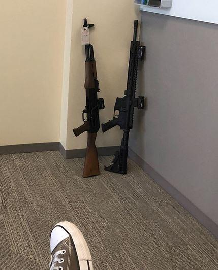 Certain politicians may take issue with our offices here at HQ...  #brownells #guns #politics https://t.co/Whj2onqufs