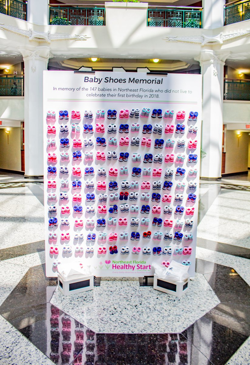 test Twitter Media - Our Baby Shoes Memorial is located in @CityofJax City Hall for #InfantMortalityAwarenessMonth as a visual of 147 babies who didn't celebrate their 1st birthday in 2018.   Thanks @wjxt4 for highlighting our #communityawareness piece: https://t.co/lDmkDj79Ic.  #ReachingMilestones https://t.co/dxNiaAQkIb