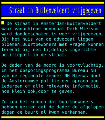 test Twitter Media - Straat in Buitenveldert vrijgegeven https://t.co/FoLjsOrPU4