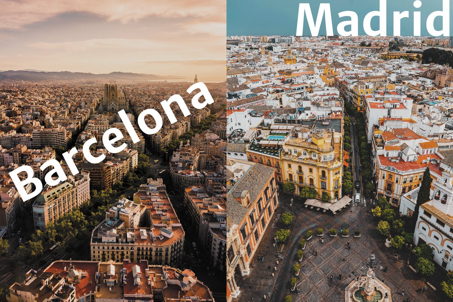 What is your favorite city in Spain?  - Retweet for Barcelona - Like for Madrid  #Spain #travel #Madrid #Barcelona https://t.co/6UjJPSRlxU