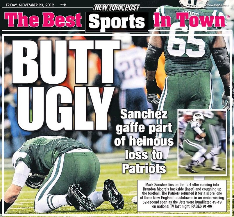 test Twitter Media - @itsGangGreen The butt fumble jokes would take over the backpages especially with them playing the Pats this week smh https://t.co/ebWJZ7UO20