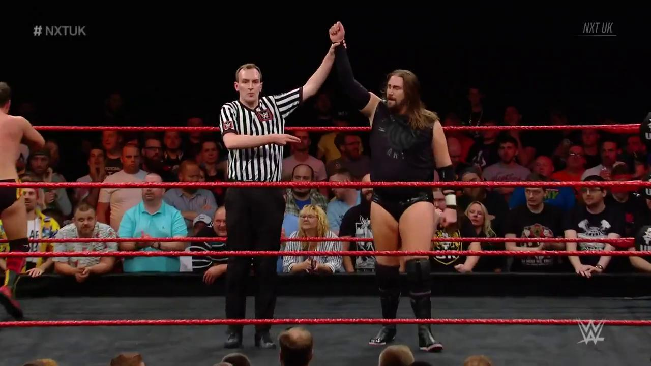 RT @NXTUK: 1 - 0  @KassiusOhno defeats @SidScala in WWE's first-ever #BritishRounds Match on #NXTUK! https://t.co/wBizThLtyS