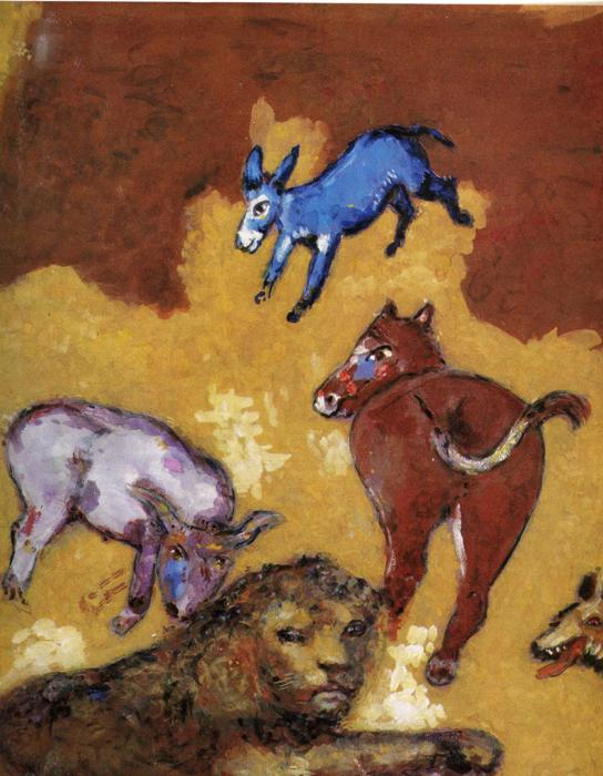 RT @artistchagall: The Lion Grown Old, 1927...