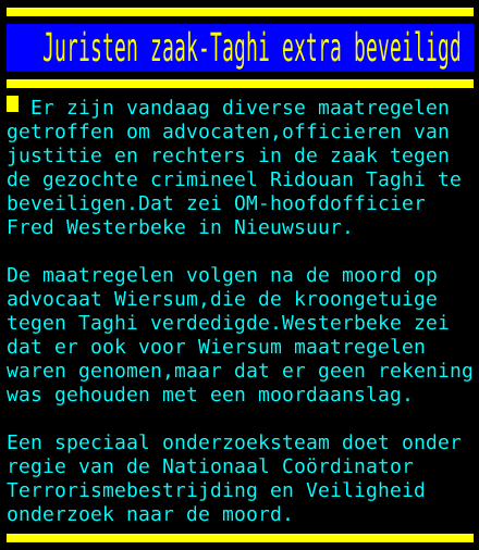 test Twitter Media - Juristen zaak-Taghi extra beveiligd https://t.co/O95fJLaRiv