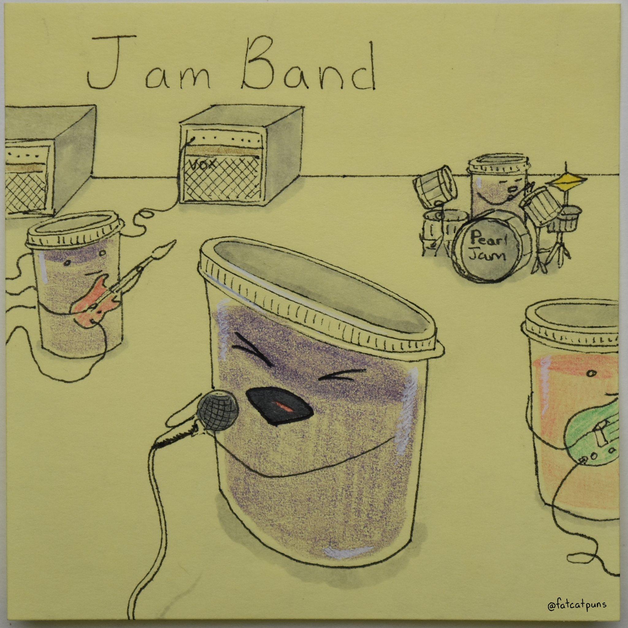More of a #marmalade guy personally but to each there own  . . . #pearljam #pearljamfan #pearljamfamily #jam #jelly #grape #grapejam #stawberry #strawberryjam #preserves #band #jamband #jambands #jambandscene #guitarjam #drumjam #jamsession  #fatcatpuns #badpun #badpuns #badmeme https://t.co/1TcgxE5069