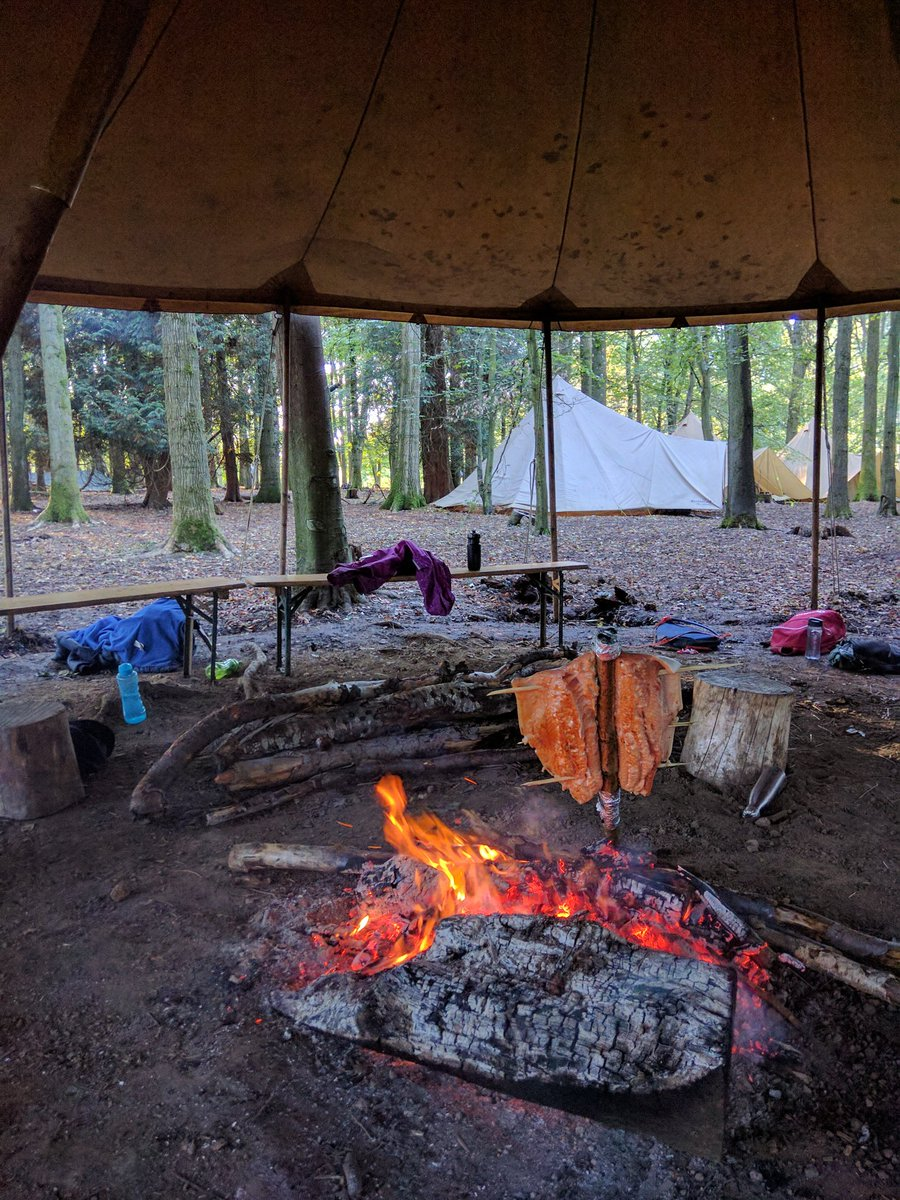 test Twitter Media - Salmon cooking on the fire..... students playing in the woods......#perfectday #bushcraft https://t.co/5yuarqWnAy