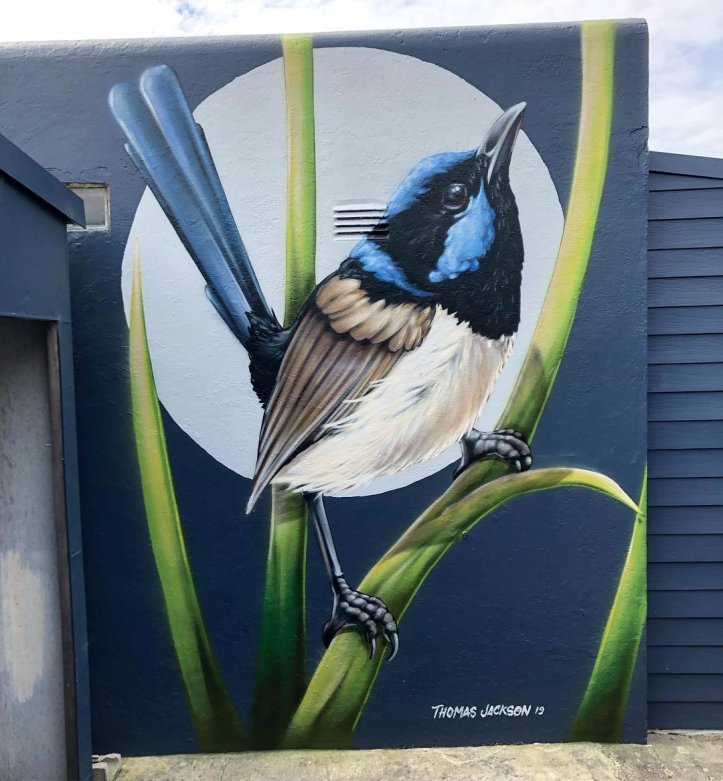 ... like a beautiful bird. Art by Thomas Jackson in Sydney, Australia #StreetArt #Art #Bird #Beauty #Graffiti #Mural #UrbanArt #Sydney https://t.co/U9Mdkgj7yF