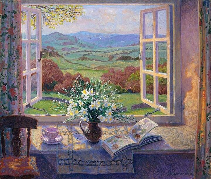 Just because it's ringing I think we deserve a couple of paintings by Stephen Darbishire. He always keeps us smiling. Love this one. https://t.co/I3dGH15VI3