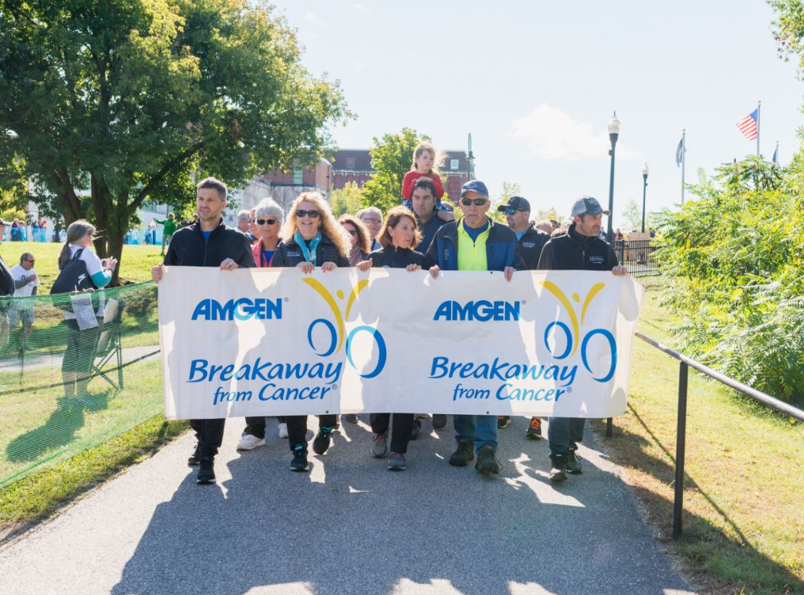 The @AmgenOncology team joins @PatrickDempsey and hundreds of participants today to support the @DempseyCenter and all those affected by cancer. We've proudly served as the presenting sponsor since the #DempseyChallenge began 11 years ago.