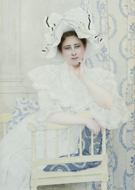 La Dame Blanche (Lady in White) (c.1903). Louis-Maurice Boutet de Monvel. https://t.co/YZk36l7K1i
