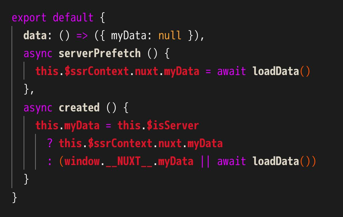 HOWTO: asyncData in any component with @nuxt_js -- hats off to @_pi0_ for reminding me about serverPrefetch 🙌 https://t.co/FCJ8z67dwa