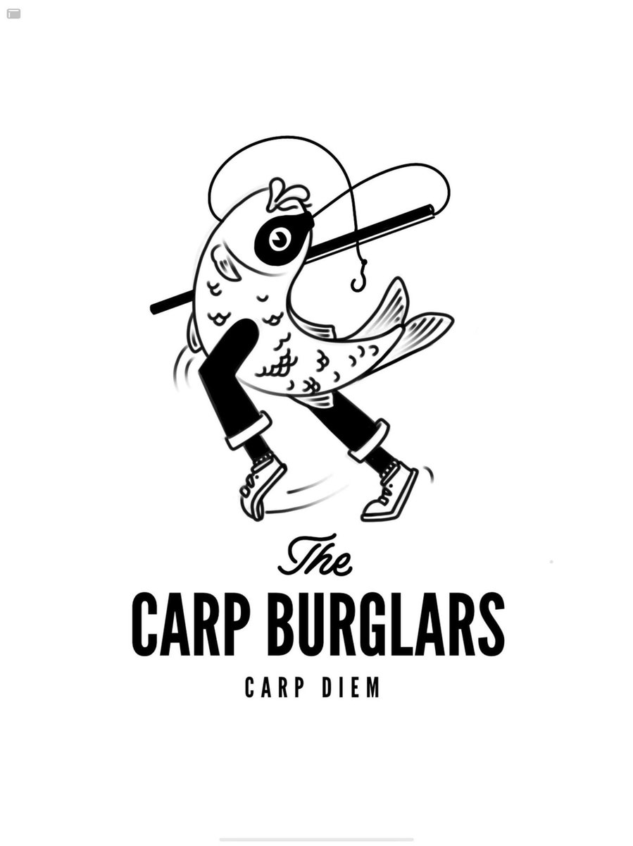 Logo design for The Carp Burglars  #logo design #GraphicDesign #Illustrator #carpfishing https://t.c
