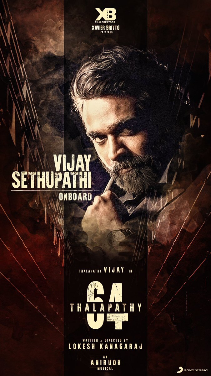 Very happy to welcome @VijaySethuOffl na on board! 💪#Thalapathy64