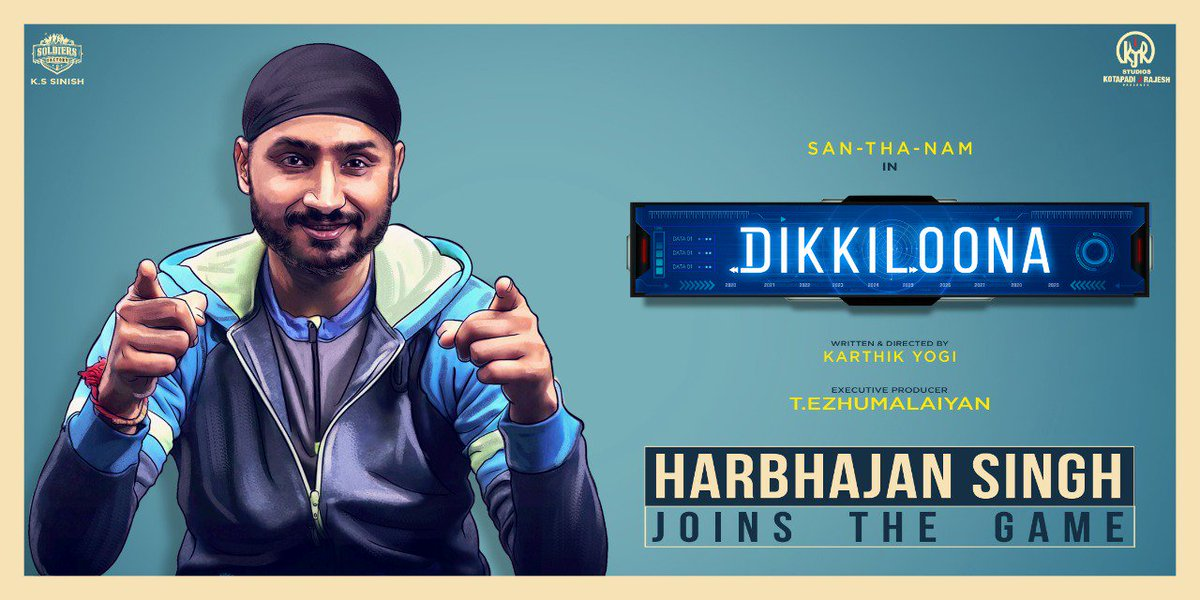 We are so excited to welcome  @harbhajan_singh on board..who always has a special love on our tamil.. #HarbhajanJoinsDikkiloona @kjr_studios @SoldiersFactory @sinish_s @EzhumalaiyanT