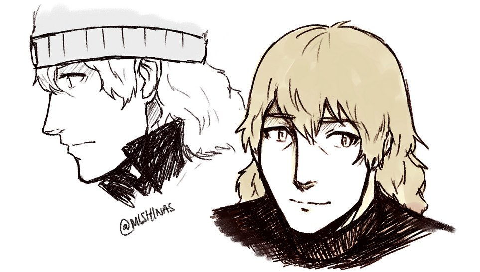 """test Twitter Media - 6. shinjiro! who i draw all happy n healthy quite often bc i can dream my very first persona fav, son, muse.. all of it. got me /into/ persona. i dont talk abt him much here on my main bc it feels odd """"out of nowhere"""" when most ppl dont know my long history + attachment to him hh https://t.co/64ZvQjGDbS"""