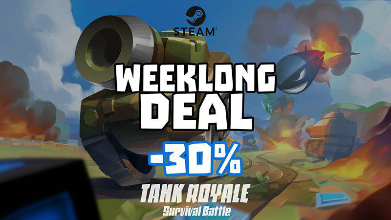 test Twitter Media - #TankRoyale #WeeklongDeal! 30% OFF on #Steam !  https:/bit.ly/TankRoyaleSteam  #gamedev #pcgamer #tanks #pcgaming #games #pcgame #battleroyale #dailygame #gameplay #onlinegaming #survival #screenshotSaturday #indie #unity #retrogaming #arcade #bestgames #steamsale #halloween2019 https://t.co/rarHMZxqeY