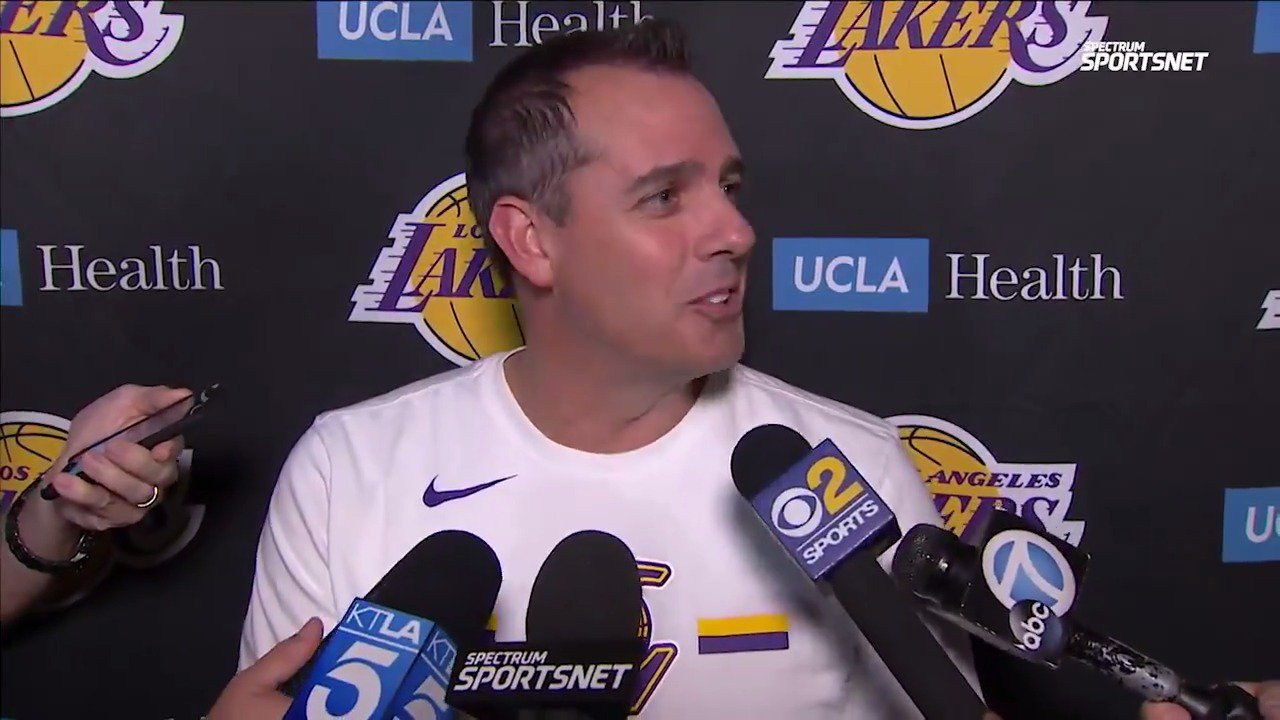 Frank Vogel gives @LakersReporter updates on Kuzma and Davis, discusses the focus for tonight's #Lakers preseason matchup with the Warriors. https://t.co/uLa5wav2bB