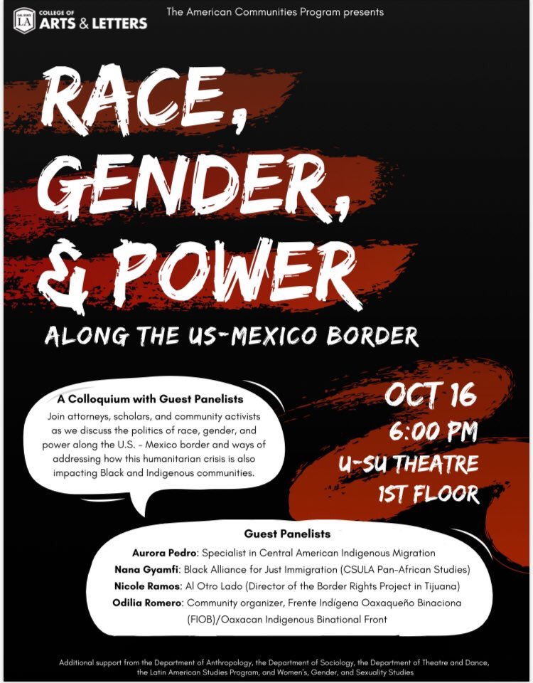 test Twitter Media - Join us for critical conversation around race, power, and gender at US/Mexico border (and Mexico/Guatemala border). We are lucky to have @FIOB_Oficial @BAJItweet @AlOtroLado_Org and #LaComunudadIxim represented. A unique convo that centers Gender, Blackness, and Indigeneity! https://t.co/GBMLNdH3z7