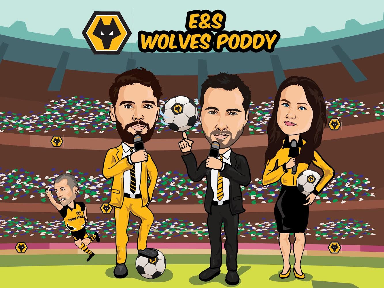 KLAXON 🎙  The @wolvespoddy returns THIS THURSDAY with a new look!   Judah 🤪 @rosieswarb 👩🏻 @JoeEdwards_Star 🧔🏻 & BULLY 🐺  Plus a host of special guests  Spread the news! We're back baby!   #wwfc https://t.co/SsW1lVEpsT