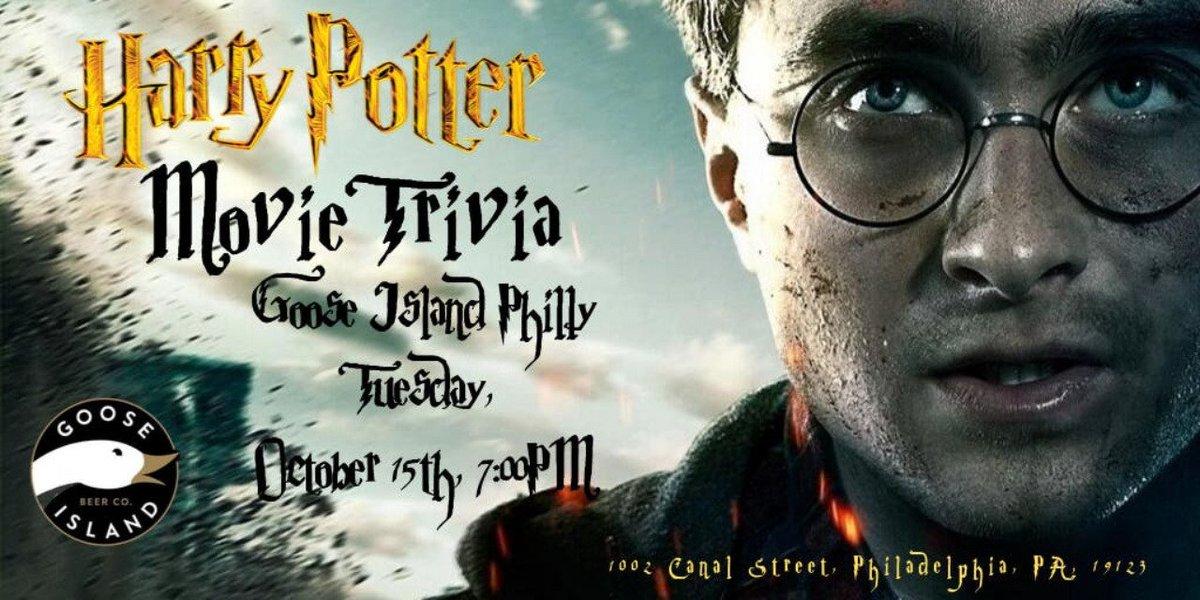 test Twitter Media - Harry Potter Movie Trivia TONIGHT at 7pm! @goosephilly RSVP: https://t.co/fXsXi5QUyr #gooseisland #philadelphia #harrypotter #harrypottertrivia #jkrowling #hogwarts #hermionegranger #ronweasley #gryffindor #triviatainment https://t.co/S3kCfYtPqd