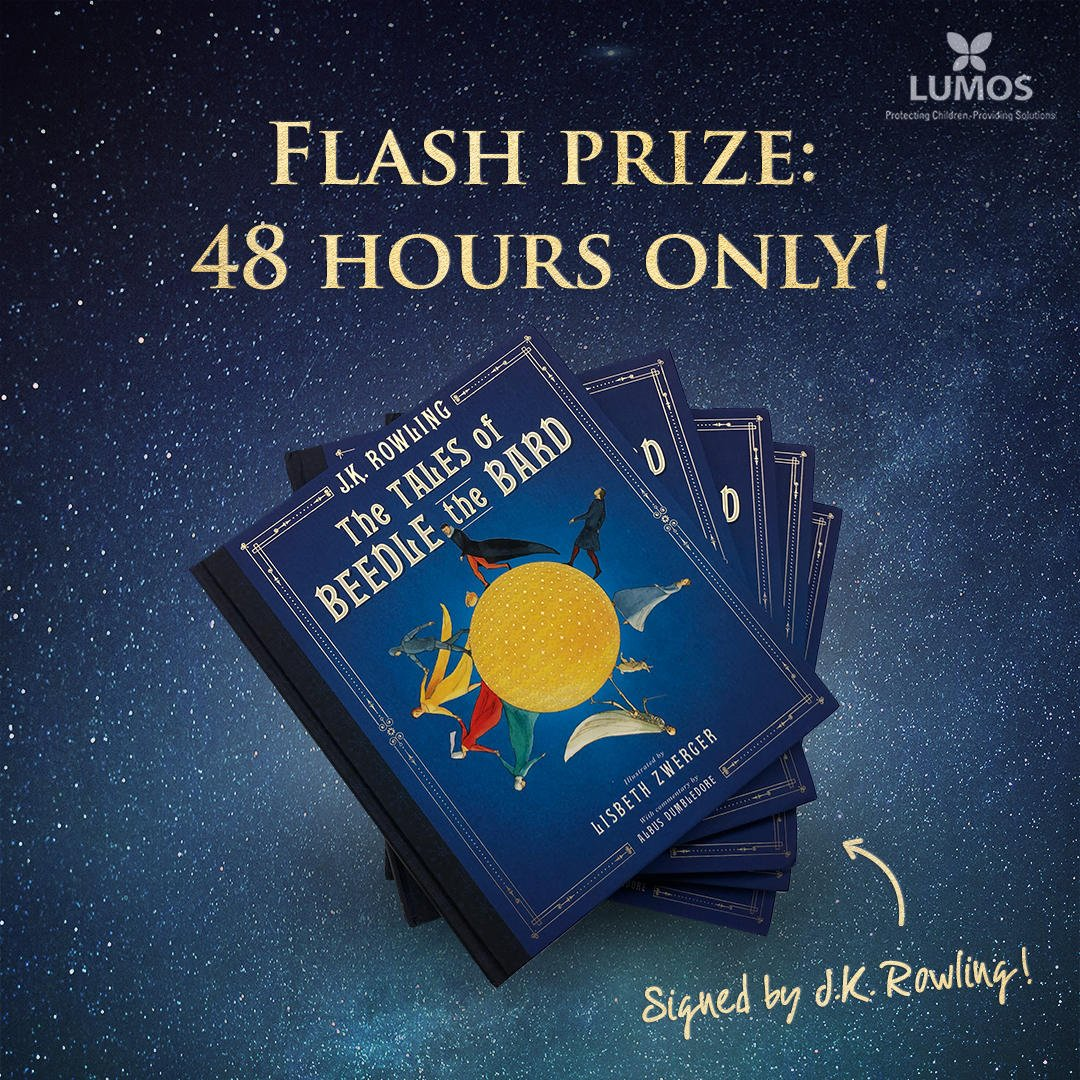 test Twitter Media - ✨SURPRISE✨ Anyone who enters for the #HarryPotter trip of a lifetime between now and 9am PT on Oct. 17 will also be in the running to win an illustrated copy of The Tales of Beedle the Bard signed by #JKRowling! GO: https://t.co/Dn29PC95W7  Every donation supports @lumos. https://t.co/81FU2CYz3l
