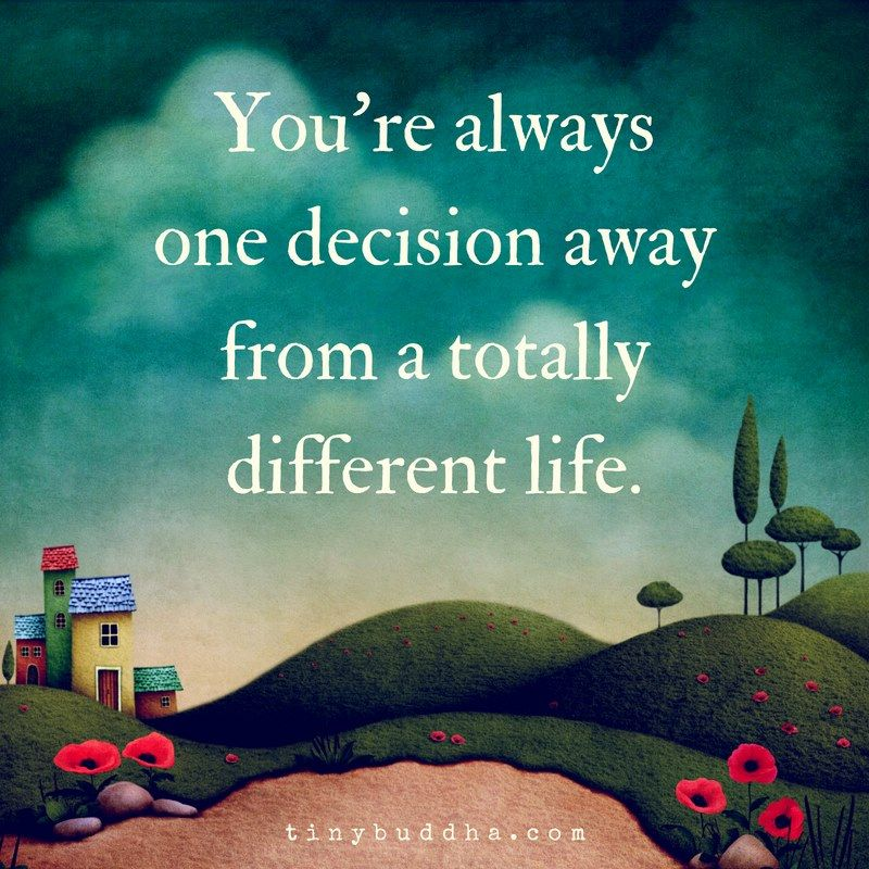You're always one decision away from a totally different life. https://t.co/gn7aOwXMfC