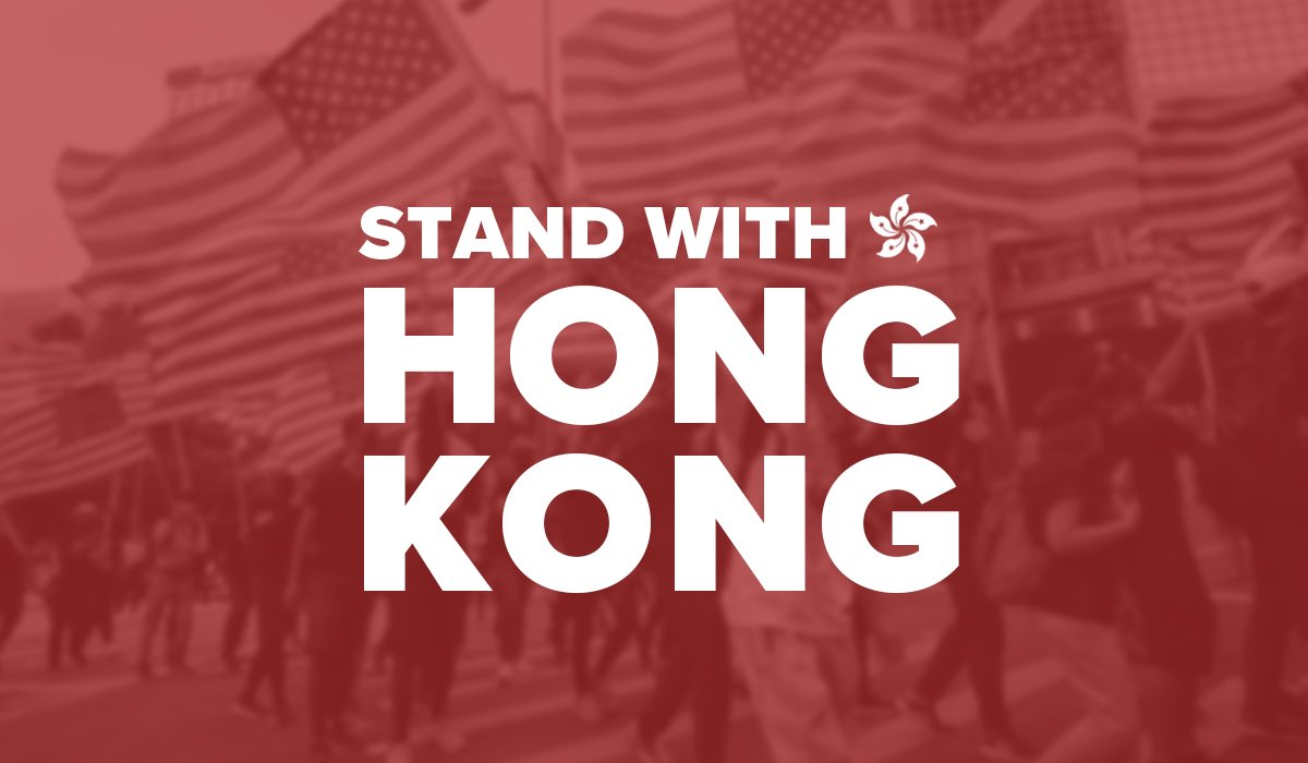 Today the House voted not once, not twice, but three times to show our support for the people of Hong Kong. Every day, people in Hong Kong are standing up against China's communist rule and fighting for basic human rights. We stand with you, Hong Kong. https://t.co/UUCr5IyPA0