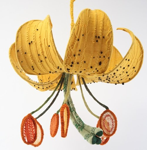 Knit, Purl, Sow, an exhibition at the Brooklyn Botanic Garden that featured botanically-accurate knitted sculptures of flowers, vegetables, and plants, including work by artist Tatyana Yanishevsky #womensart https://t.co/KX1ZKHu3fk