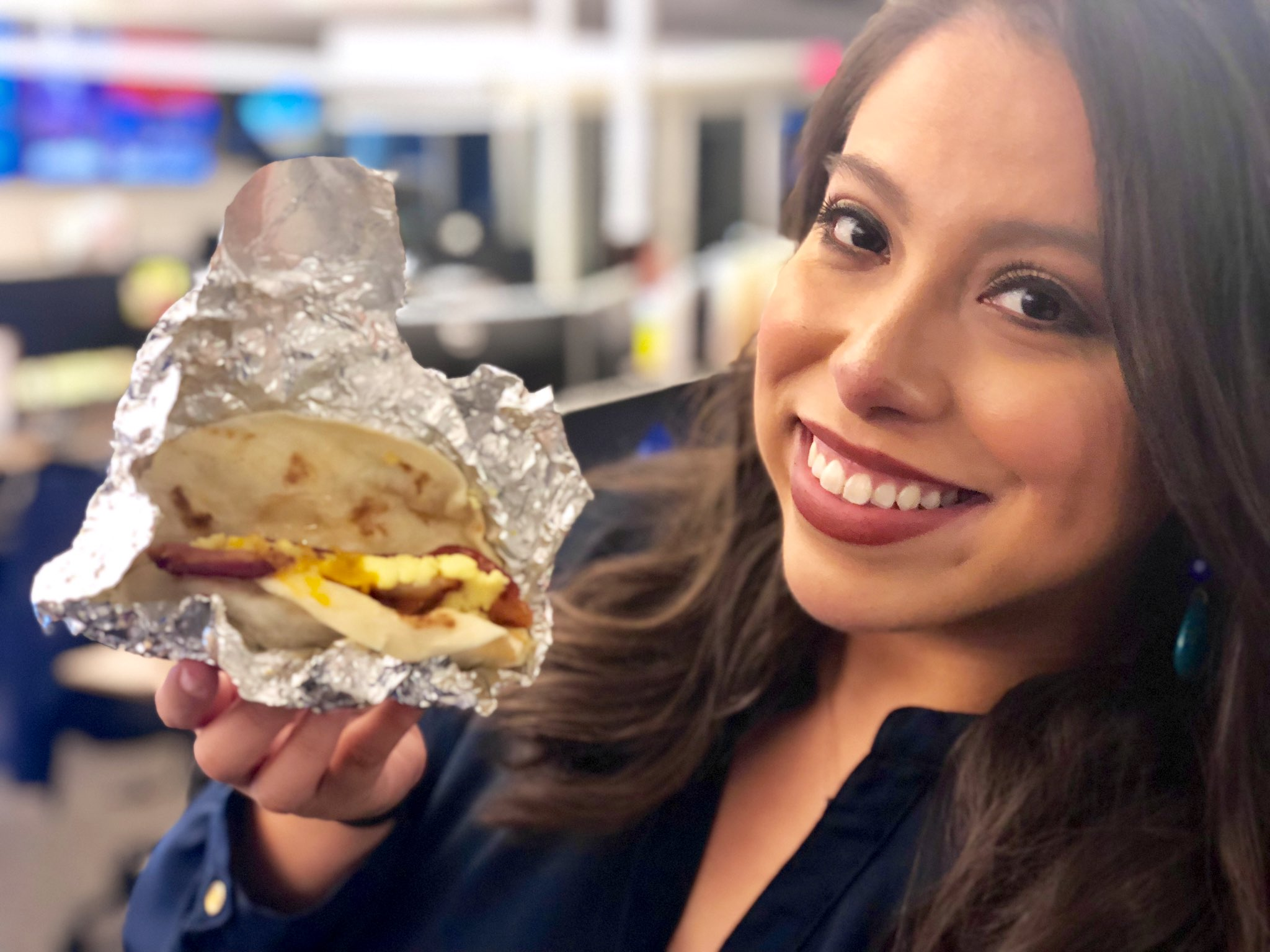 It's #NationalTacoDay!! ❤️🌮❤️ Thanks to my awesome EP (@weswilson4) for saving me a bacon, egg and cheese breakfast taco!  📸: @ToddKXAN https://t.co/6YRBgFjKc7