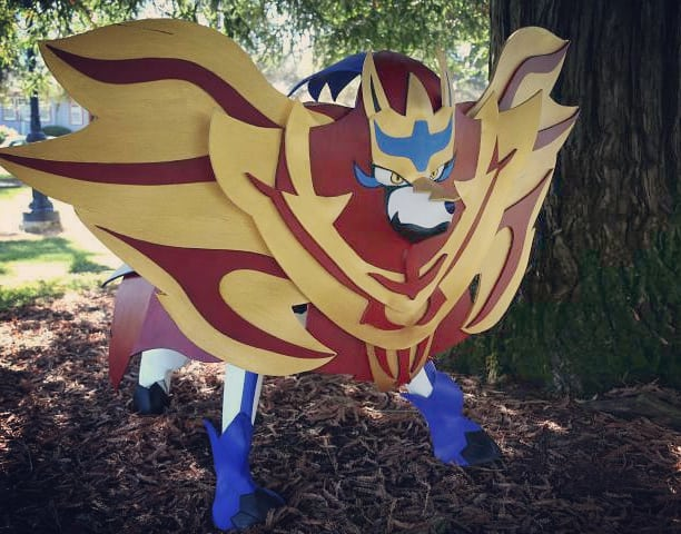 My updated zamazenta cosplay! Watching the reveal at gleamwood forest today! What exciting new pokemons to see! #zamazenta #pokemon #PokemonGO #PokemonSwordShield #Poketober2019 #gamefreak #Nintendo #nintendodirect #cosplay #Cosplayphotography #cosplayer  #doggo