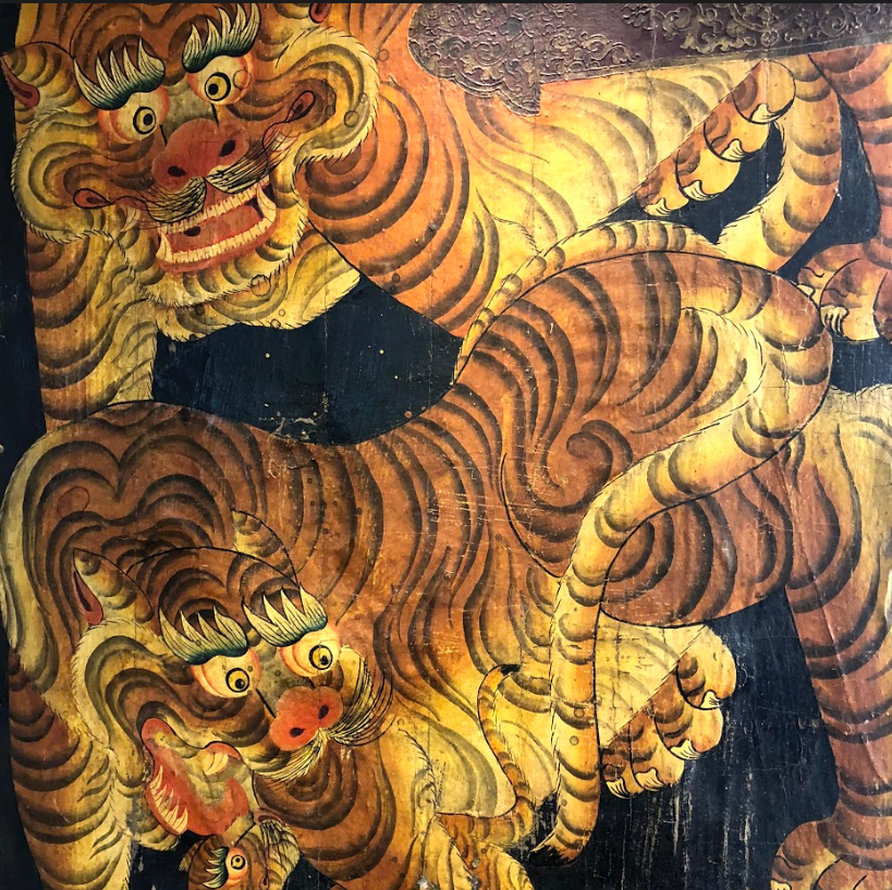 These tigers make up some of the amazing art here at Icon. Fun fact: it's thought that only one in twenty hunts by tigers are successful, even though they're considered evolved hunters 🐅 https://t.co/d3flkHWT8c