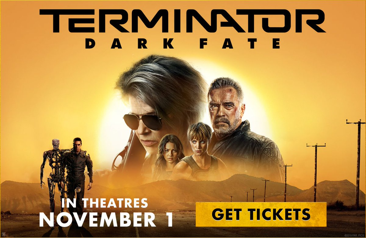 test Twitter Media - He told you he'd be back. Advance tickets are now available for Terminator: Dark Fate. See it in #DBOX November 1.  https://t.co/zdJqQGumzZ // Voyez #TerminatorDarkFate en #DBOX le 1er novembre! https://t.co/ja7mYM9mCm