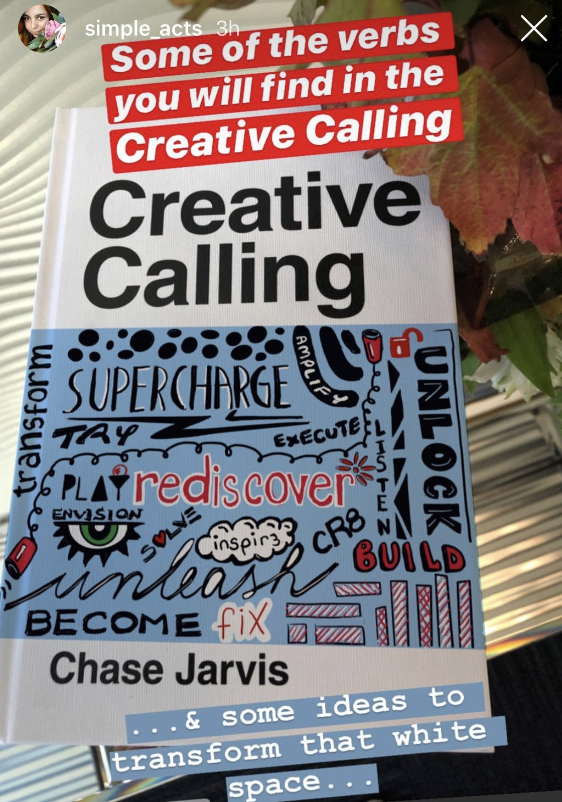 WOW! This is exactly what we want to see with that white space 🖌🙏Share your cover art with #creativecalling @chasejarvis https://t.co/A2ockUj8Oi