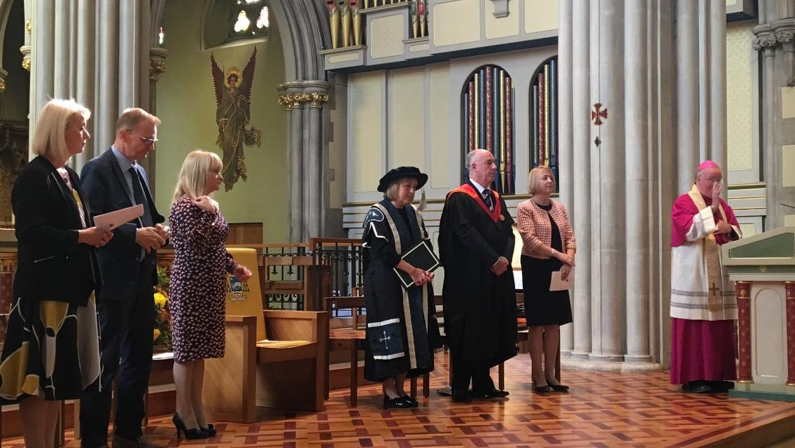 test Twitter Media - Just had the PCP (new teacher) award ceremony in the Cathedral this morning. Professor Anna Lise Gordon, Director of the Institute of Education at St Mary's Twickenham was here on behalf of the Vice Chancellor, Francis Campbell. Prayers and congratulations to our NQTs! https://t.co/p8rpMlcHBf