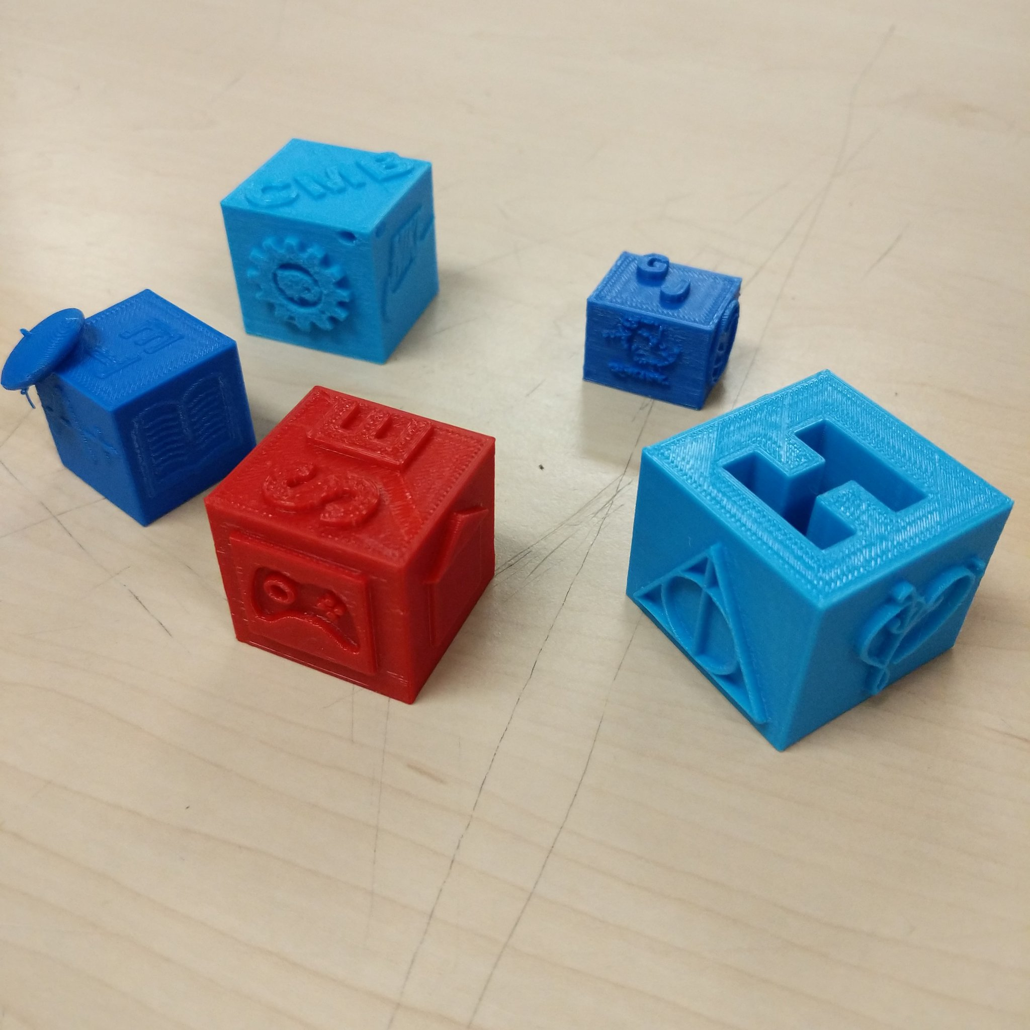 Some nice examples of our 'Cubes of Relevance' students have designed using @tinkercad. #3dprinting #steamlearns #makered #makerspace https://t.co/fCS2E9AcYA