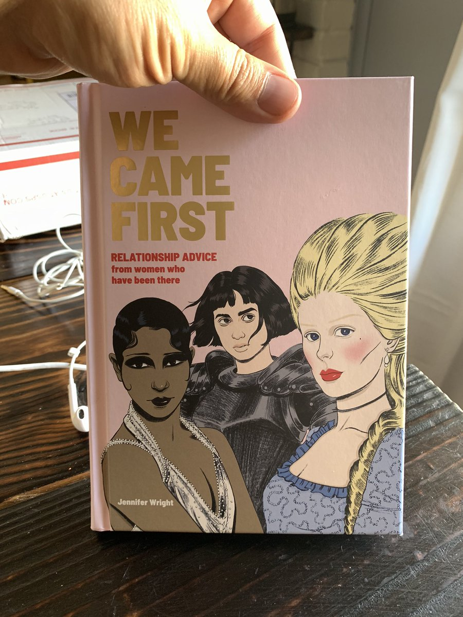 I forgot (whoops!) @JenAshleyWright said she'd send me a copy of her book a while ago so I was very glad to to get this in the mail today! #WeCameFirst